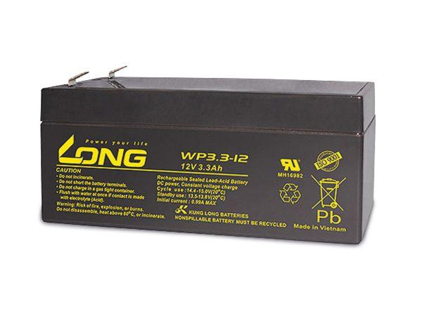 Blei-Akkumulator KUNG LONG WP3.3-12, 12 V-/3,3 Ah