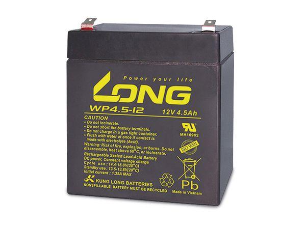 Blei-Akkumulator KUNG LONG WP4.5-12, 12 V-/4,5 Ah