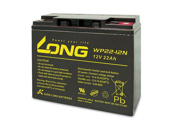 Blei-Akkumulator KUNG LONG WP22-12N, 12 V-/22 Ah