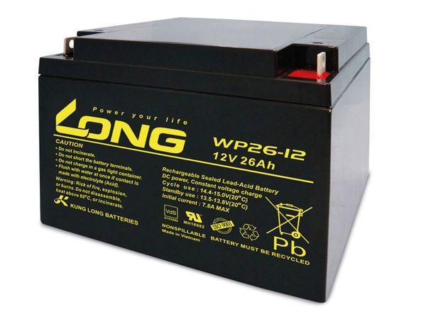 Blei-Akkumulator KUNG LONG WP26-12, 12 V-/26 Ah