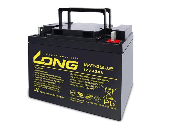Blei-Akkumulator KUNG LONG WP45-12, 12 V-/45 Ah