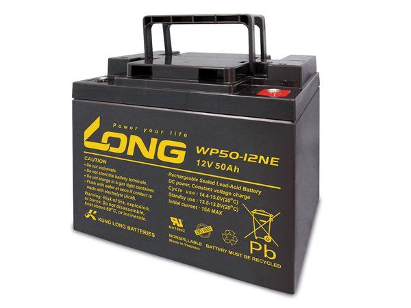 Blei-Akkumulator KUNG LONG WP50-12NE, 12 V-/50 Ah, zyklisch