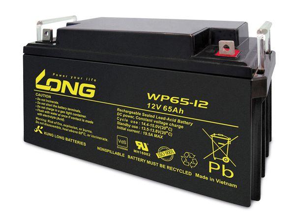 Blei-Akkumulator KUNG LONG WP65-12, 12 V-/65 Ah