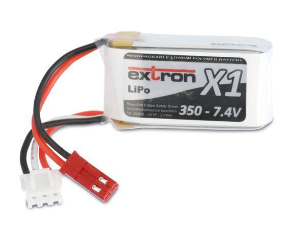 Modellbau-Akkupack EXTRON X1, LiPo, 7,4 V-/350 mAh - Produktbild 1