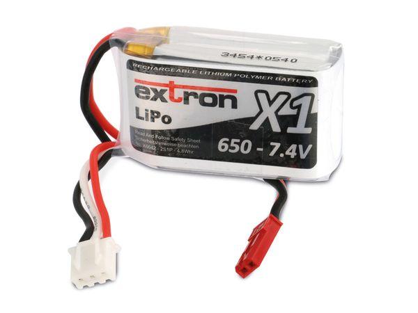 Modellbau-Akkupack EXTRON X1, LiPo, 7,4 V-/650 mAh - Produktbild 2