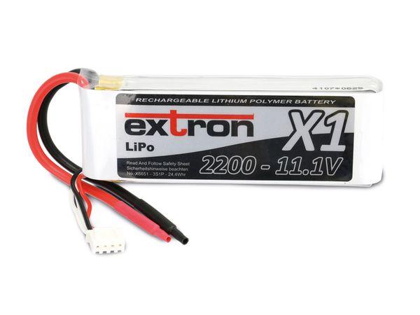Modellbau-Akkupack EXTRON X1, LiPo, 11,1 V-/2200 mAh - Produktbild 2