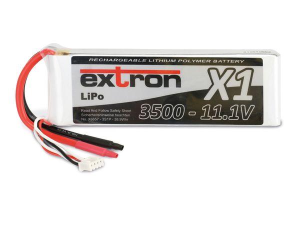Modellbau-Akkupack EXTRON X1, LiPo, 11,1 V-/3500 mAh - Produktbild 2