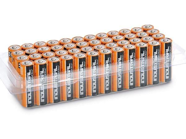 Mignon-Batterien DURACELL INDUSTRIAL, 48 Stück