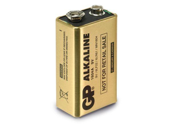 9V-Blockbatterie GP ALKALINE 1604A GOLD