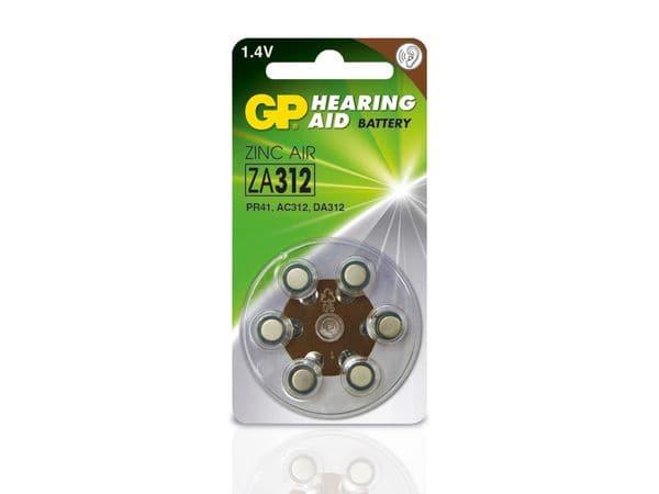 Hörgeräte-Batterien GP ZA312