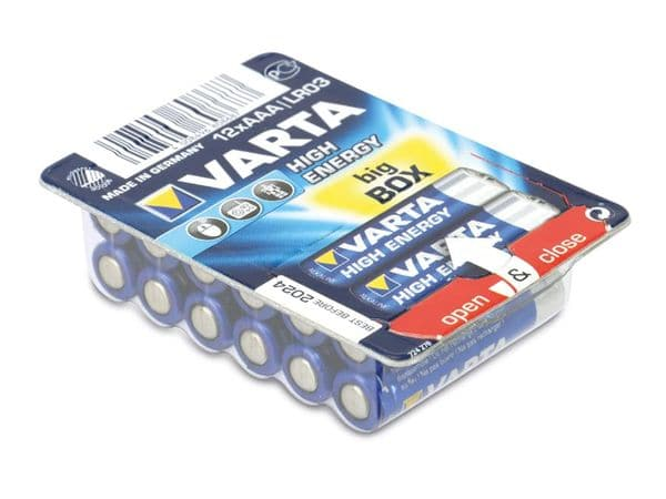 Micro-Batterie VARTA HIGH ENERGY, 12er Box