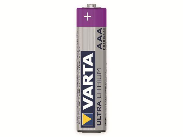 Micro-Lithiumbatterie VARTA Professional, 4 Stück - Produktbild 1