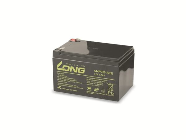 Blei-Akkumulator KUNG LONG WP12-12E-M/F2, 12 V-/12 Ah, zyklisch - Produktbild 2