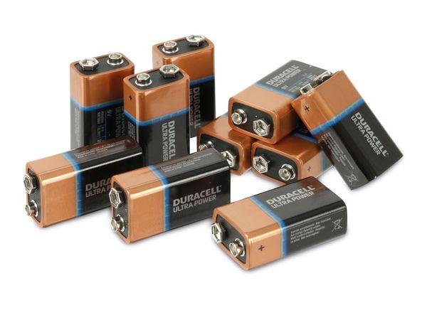 DURACELL ULTRA POWER MX1604 9 V-Block Batterien, 10 Stück - Produktbild 1
