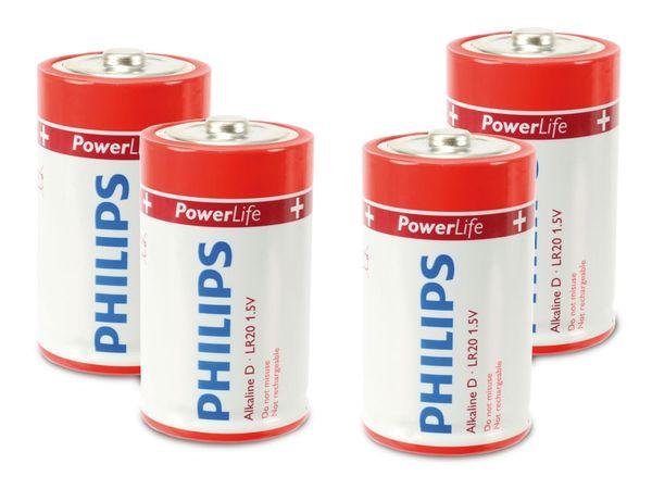 Mono-Batterie PHILIPS PowerLife, 4 Stück