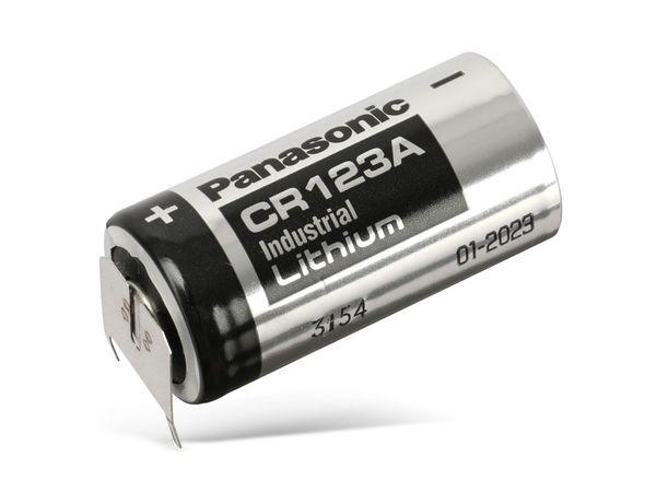 Lithium-Batterie PANASONIC CR123A, mit Lötfahnen