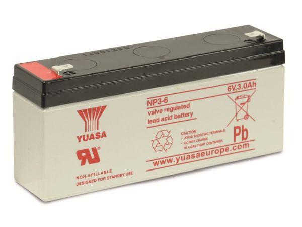 Blei-Akkumulator YUASA NP3-6, 6 V-/3 Ah - Produktbild 1