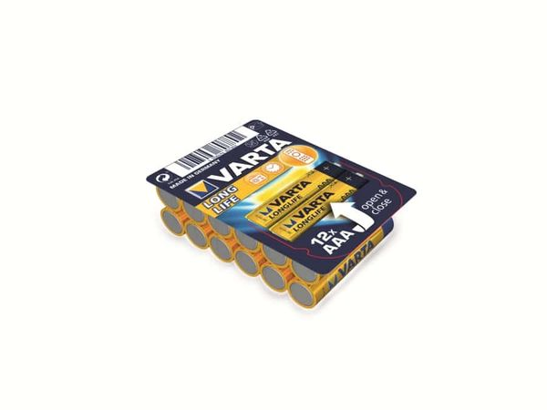 Micro-Batterieset VARTA LONGLIFE, 12 Stück
