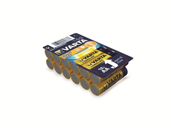 Mignon-Batterieset VARTA LONGLIFE, 12 Stück