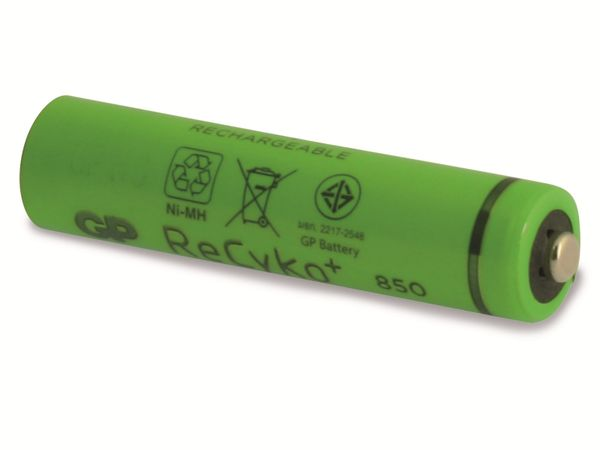NiMH-Micro-Akku GP ReCyko+, 850mAh, 4 Stück - Produktbild 2