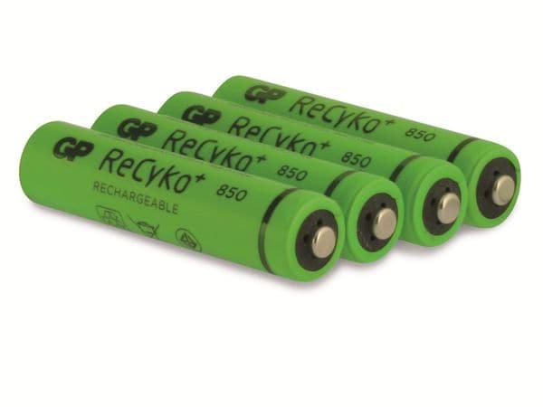 NiMH-Micro-Akku GP ReCyko+, 850mAh, 4 Stück - Produktbild 3