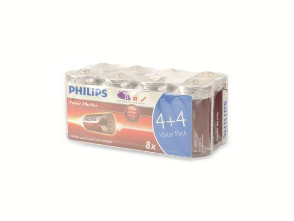 Mono-Batterie PHILIPS Power Alkaline, 8 Stück - Produktbild 2