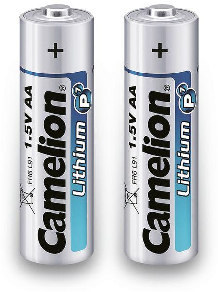 Mignon-Batterie, Lithium, Camelion FR6, 2Stück