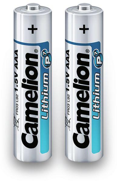 Micro-Batterie, Lithium, Camelion FR03, 2Stück