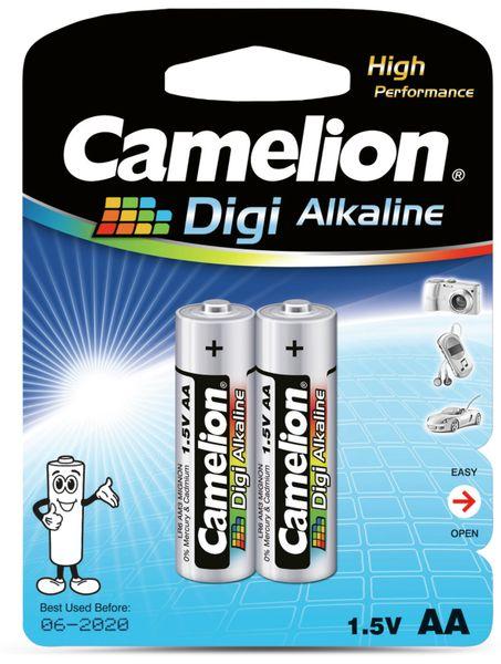 Mignon-Batterie, Digi-Alkaline, Camelion LR6, 2 Stück