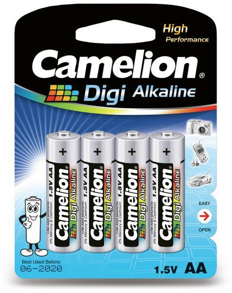 Mignon-Batterie, Digi-Alkaline, Camelion LR6, 4 Stück