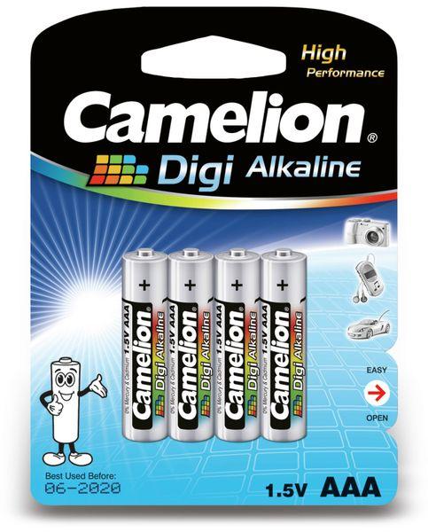 Micro-Batterie, Digi-Alkaline, Camelion LR03, 4 Stück