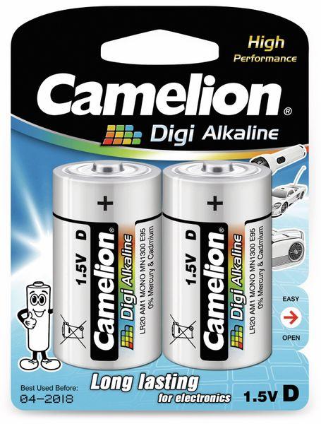 Mono-Batterie, Digi-Alkaline, Camelion LR20, 2 Stück