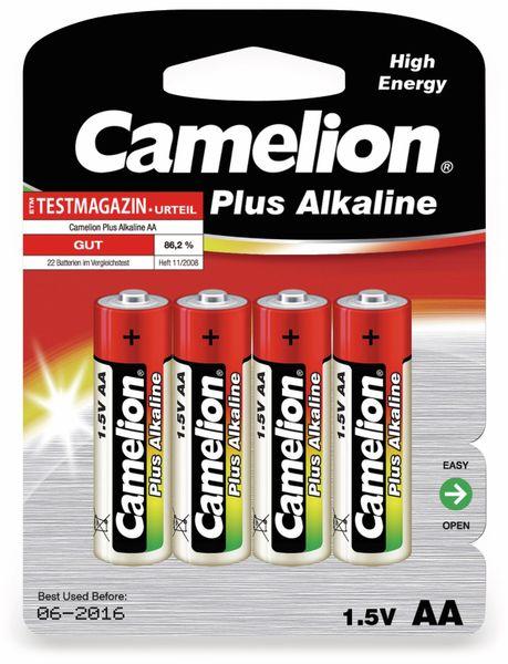 Mignon-Batterie, Plus-Alkaline, Camelion LR6, 4 Stück