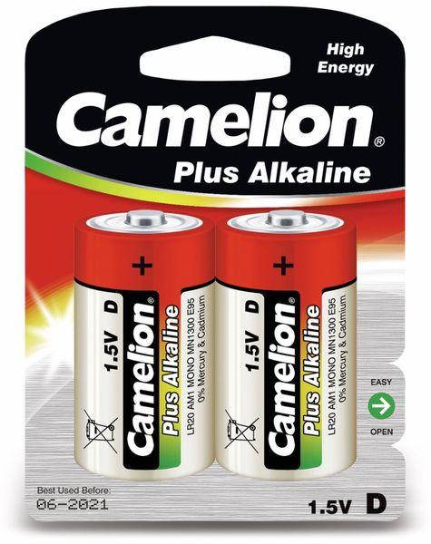 Mono-Batterie, Plus-Alkaline, Camelion LR20, 2 Stück