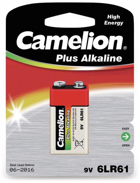 9V-Blockbatterie, Plus Alkaline, Camelion, 1 Stück