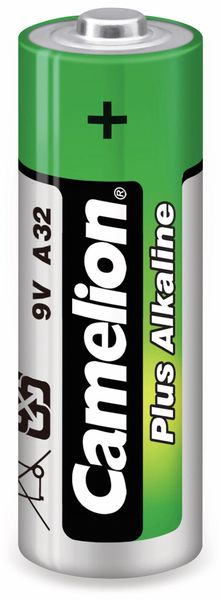 9V-Batterie, Plus Alkaline, Camelion A32 - Produktbild 1