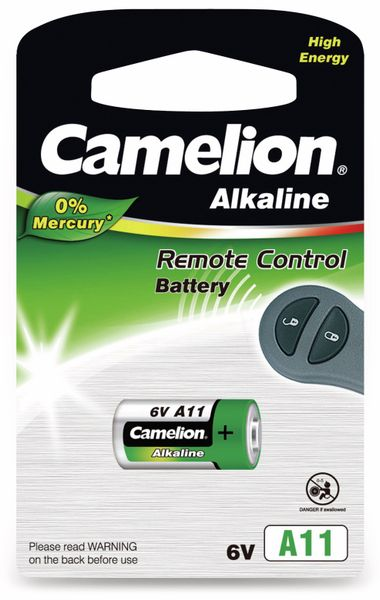 6V-Batterie, Plus Alkaline, Camelion A11, 1 Stück
