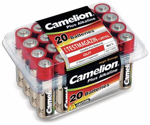 Mignon-Batterie, Plus-Alkaline, Camelion LR6, 20 Stück