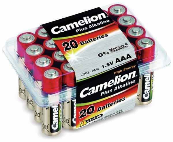 Micro-Batterie, Plus-Alkaline, Camelion LR03, 20 Stück
