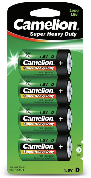 Mono-Batterie Camelion Super Heavy Duty , 4 Stück