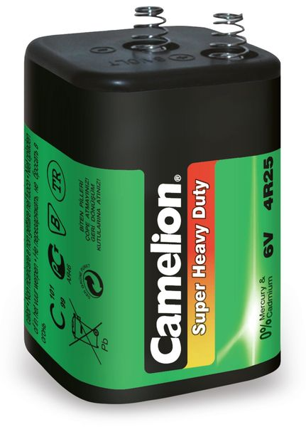 Laternenbatterie Camelion 4R25, 6V, 7Ah, 1 Stück