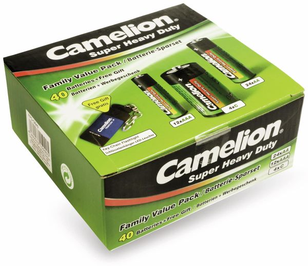 Batterienset Camelion 40tlg. Haushaltssparset 40tlg