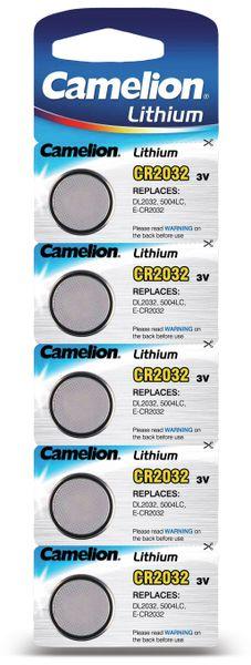 Knopfzelle, Camelion, CR2032, Lithium, 3 V, 220mAh, 5 St.