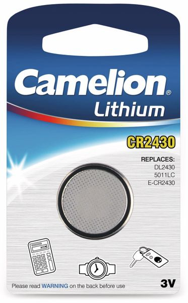 Knopfzelle Camelion CR2430, 1 St.