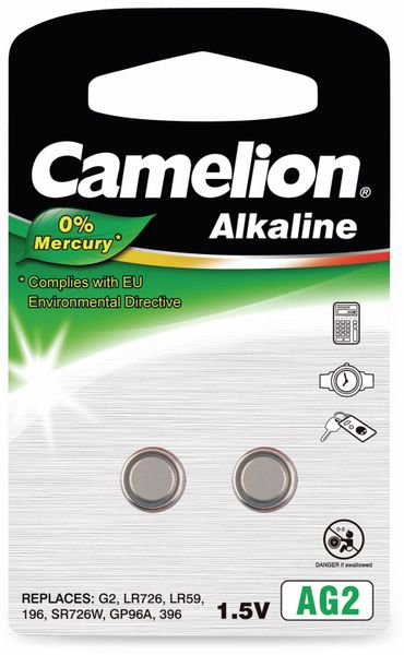 Knopfzelle Camelion AG2, 2 St.