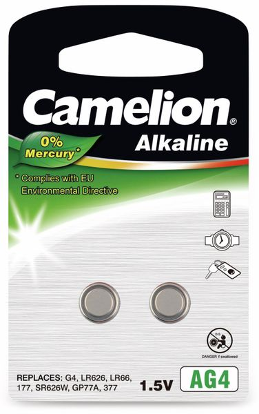 Knopfzelle Camelion AG4, 2 St.