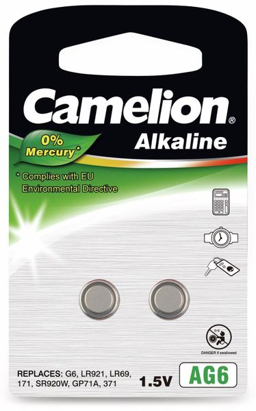 Knopfzelle Camelion AG6, 2 St.