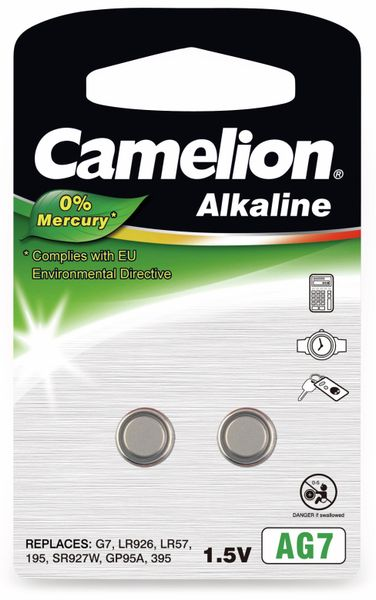Knopfzelle Camelion AG7, 2 St.