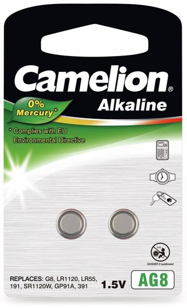 Knopfzelle Camelion AG8, 2 St.