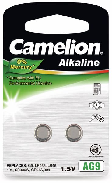 Knopfzelle Camelion AG9, 2 St.